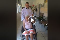 Chuva de rosas aos nossos idosos do Lar São Vicente de Paulo