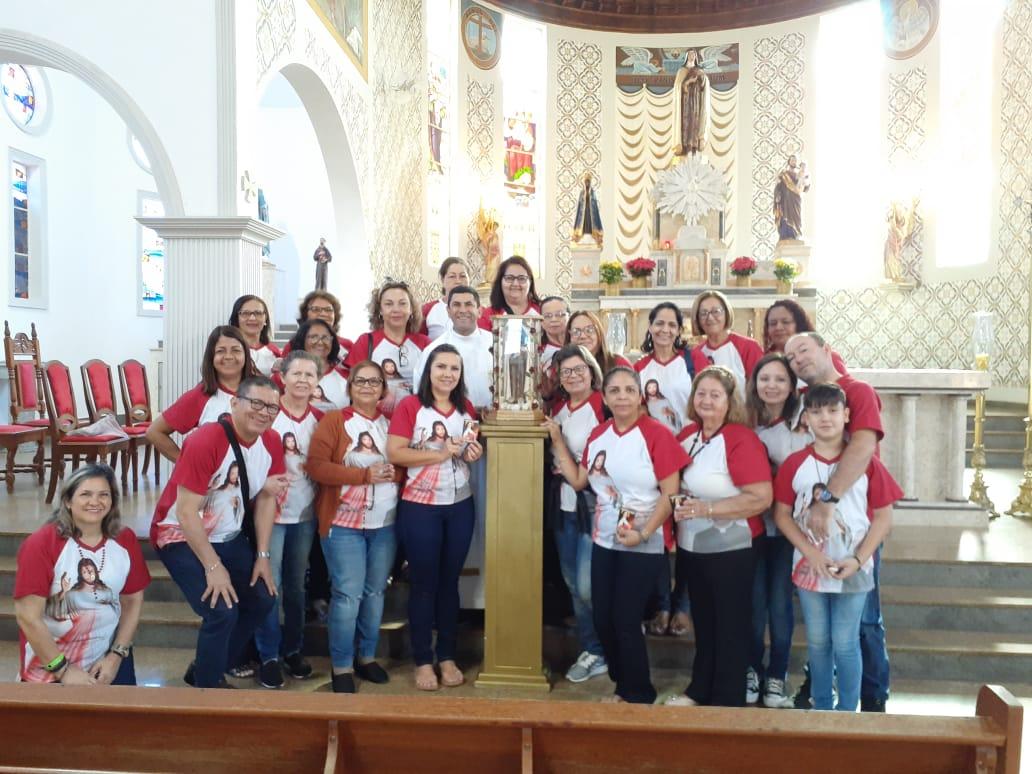 Santuário recebe Visita dos Peregrinos da Divina Misericórdia da cidade de Rondonópolis