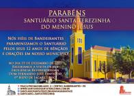 ANIVERSÁRIO SANTUÁRIO SANTA TEREZINHA DO MENINO JESUS