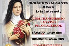 HORÁRIOS DA SANTA MISSA (VIA INTERNET)